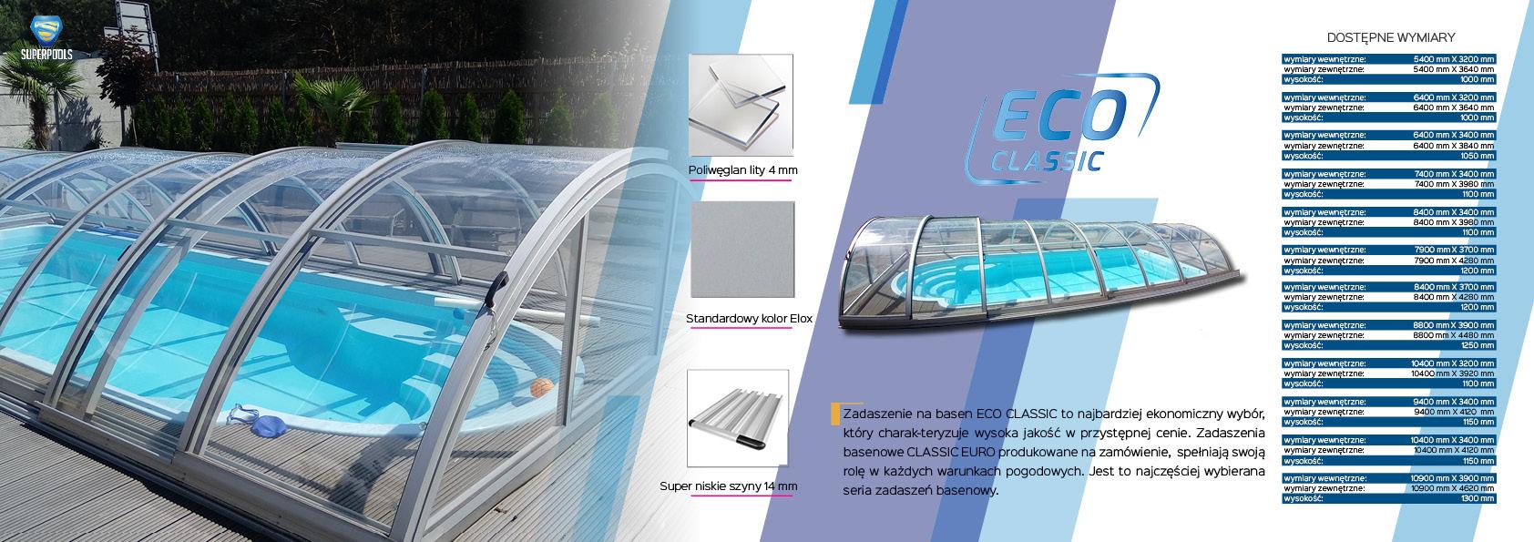 zadaszenie basenowe eco classic